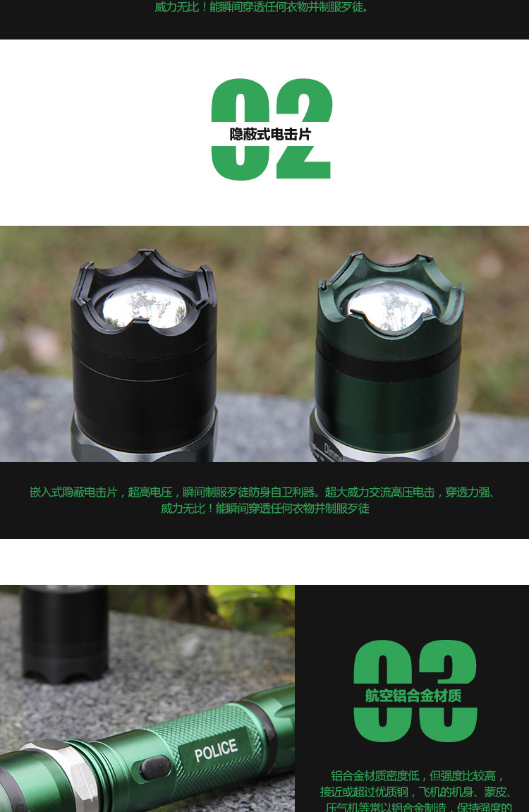 黑鹰HY-T10型钛合金电棒特警专用 第5张